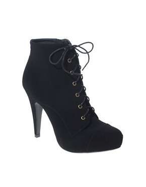Image 1 of ASOS AVELINE Lace Up Toecap Boots