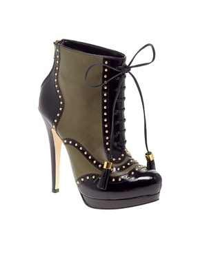 Image 1 of ASOS ATTACK Leather Lace Up Platform Boots