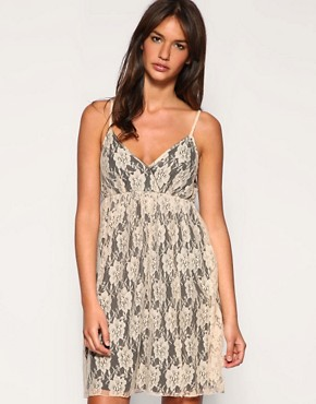 Image 1 of Vero Moda Contrast Lace Slip Dress