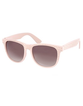 Image 1 ofASOS Premium Pin Stud Coloured Sunglasses