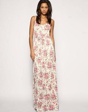 Image 1 ofASOS Floral Tie Waist Maxi Dress