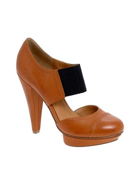 Image 1 ofASOS PING Elastic Front Platform Shoes