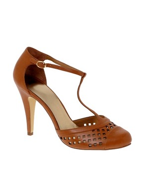 Image 1 ofASOS SQUARE T Bar Toe Cap Shoe