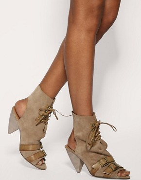 Image 3 of ASOS TWILIGHT Suede Straps & Buckle Shoeboots