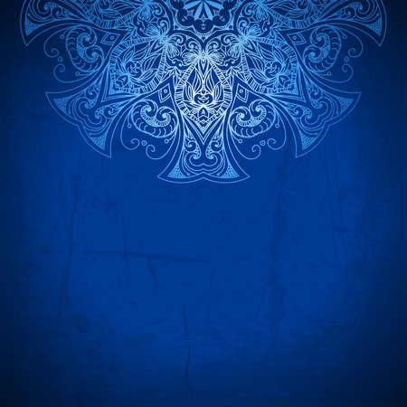 blue background vintage pattern hand