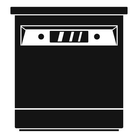 closed dishwasher icon simple