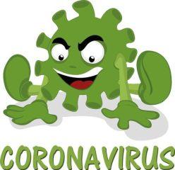Coronavirus cartoon virus vector illustration: Gráficos ...