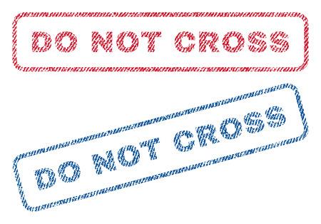 do not cross text