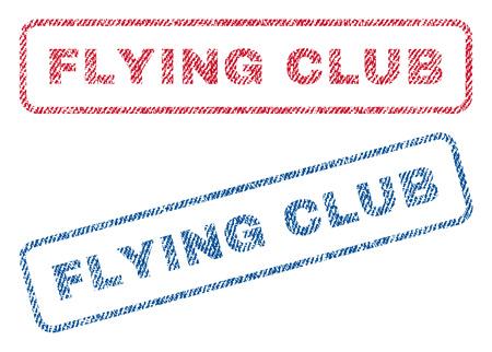 flying club text textile