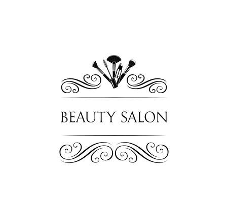 Beauty Salon Badge. Makeup Brushes. Make Up Artist badge