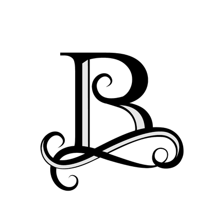 Capital Letter B for Monograms and symbol. Beautiful