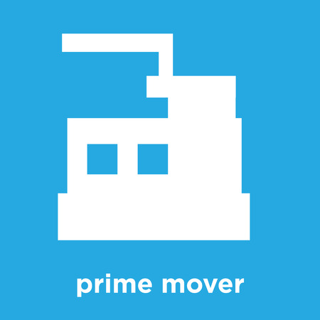 prime mover icon isolated