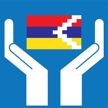 hand showing nagorno karabakh