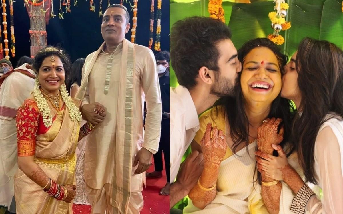 singer sunitha family images