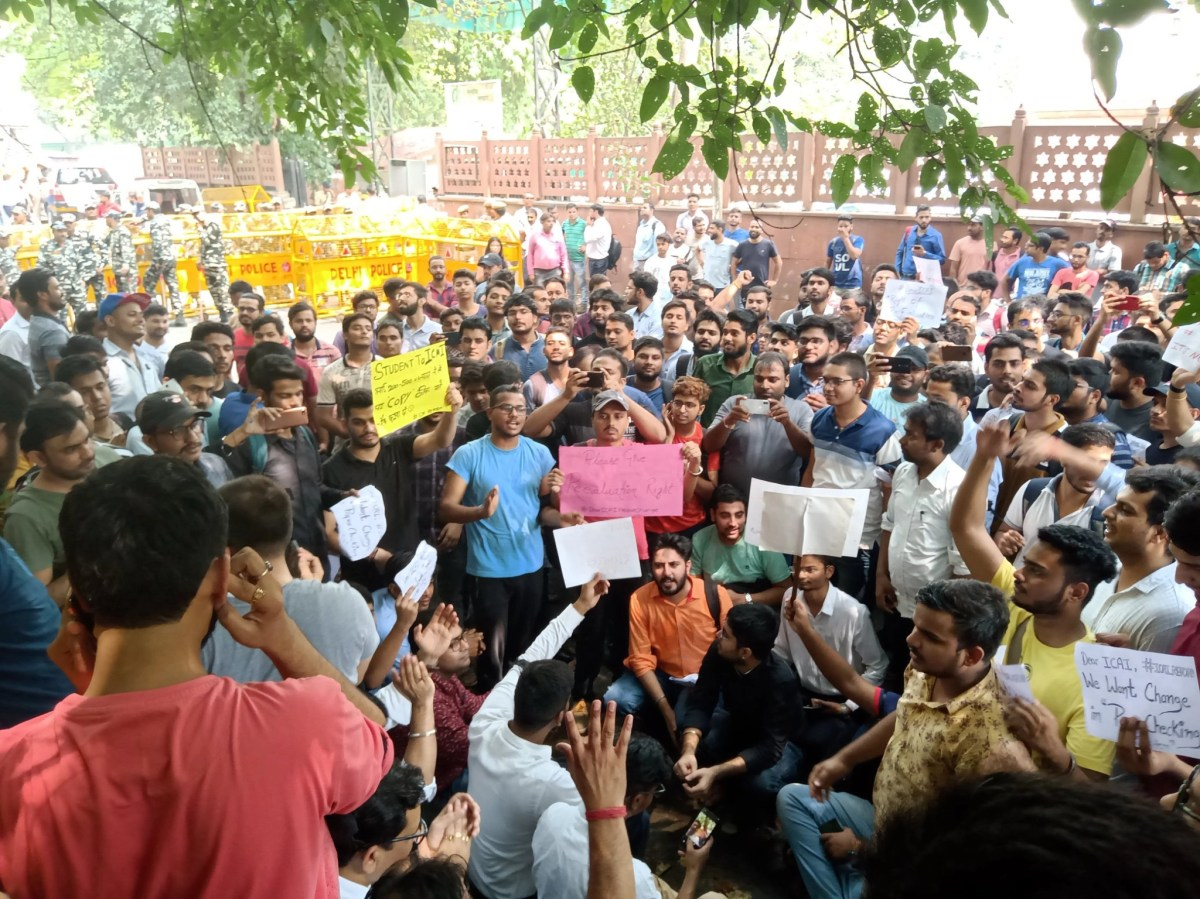Protests against ICAI at New Delhi office (social media)