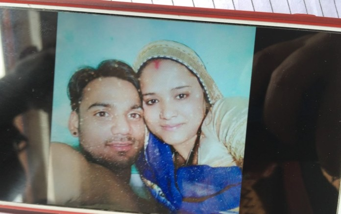 Sanjay and Rukhsar after their wedding in a court