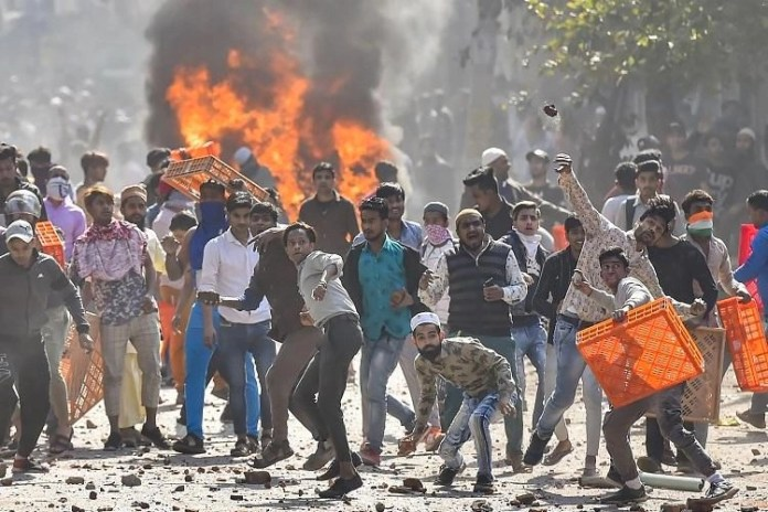 Snapshot of violence during the siege of several areas in Delhi including Seelampur-Jaffrabad and Shaheen Bagh by anti-CAA rioters