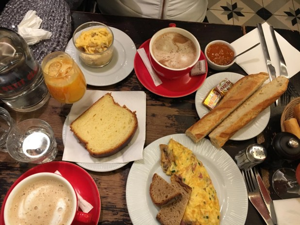 An everyday Parisian breakfast.