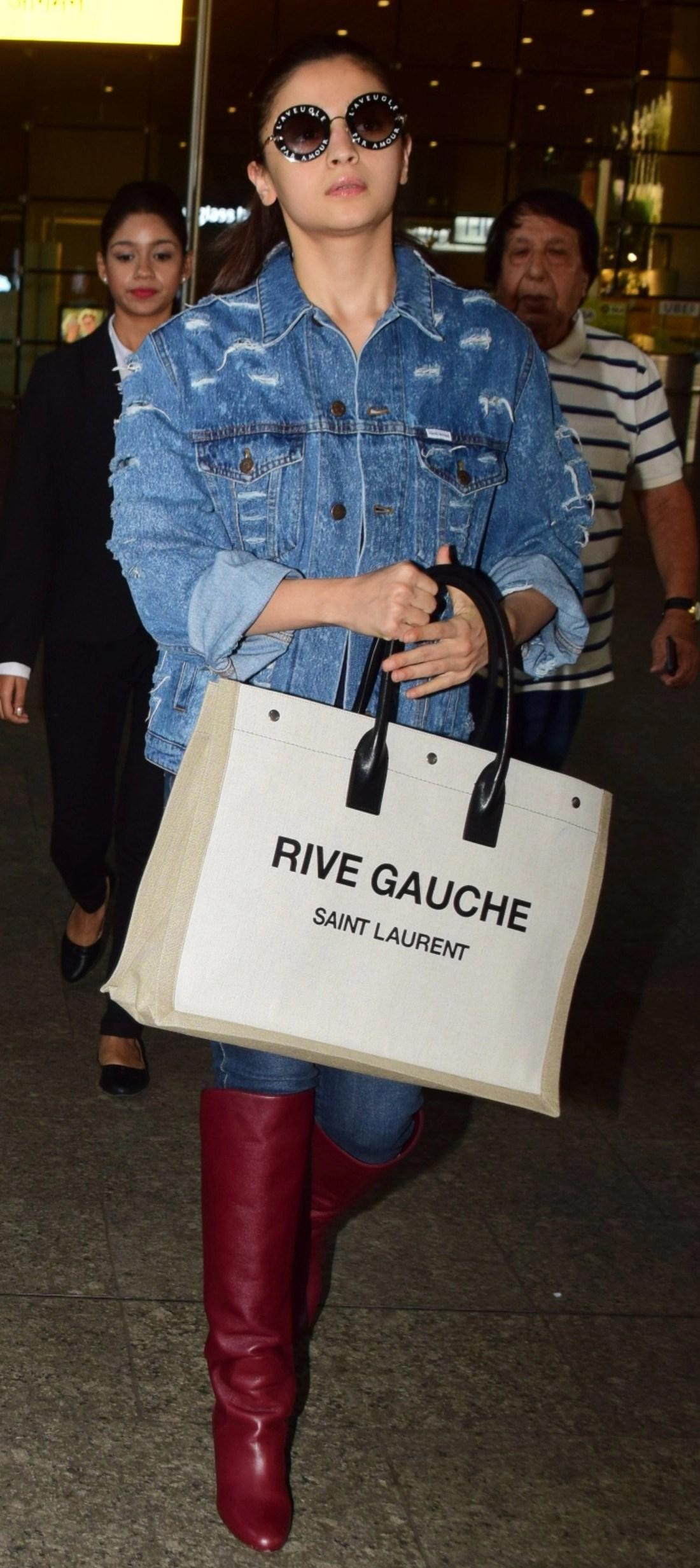 Here's a close look at Alia's Saint Laurent bag.