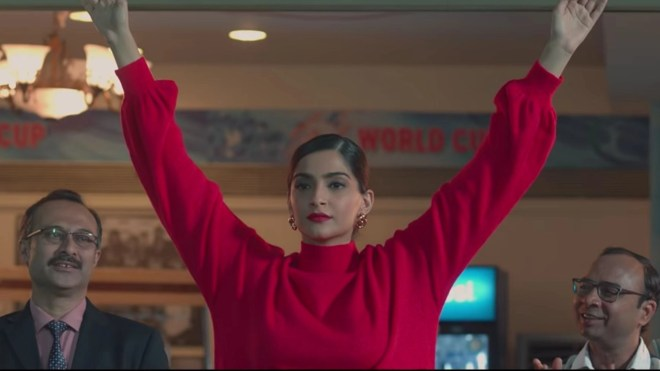 Sonam Kapoor as Zoya Solanki in <i>The Zoya Factor</i>.