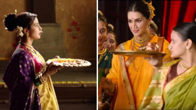 Priyanka as Kashi Bai in <i>Bajirao Mastani; </i>Kriti Sanon as Parvati in <i>Panipat.</i>
