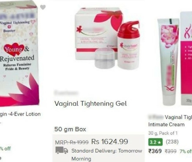 Screenshots Of Vaginal Tightening Creams Available Online