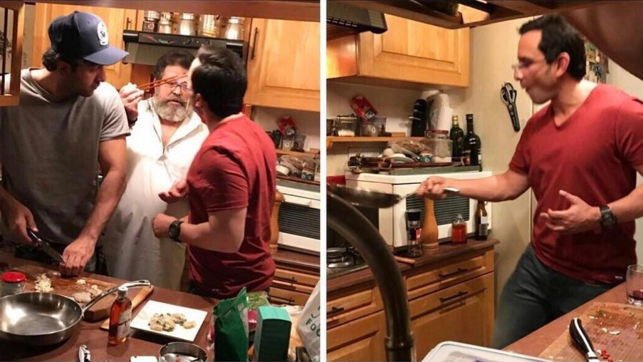 Ranbir Plays Saifs Sous Chef as They Cook for Kareena and