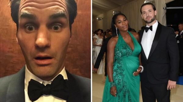 In Pics Tennis Royalty Roger Federer Serena Williams