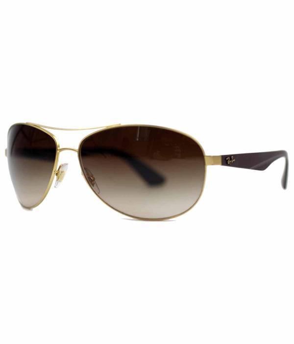 Ray-ban Retro 60s Wrap Aviator Sunglasses In Brown