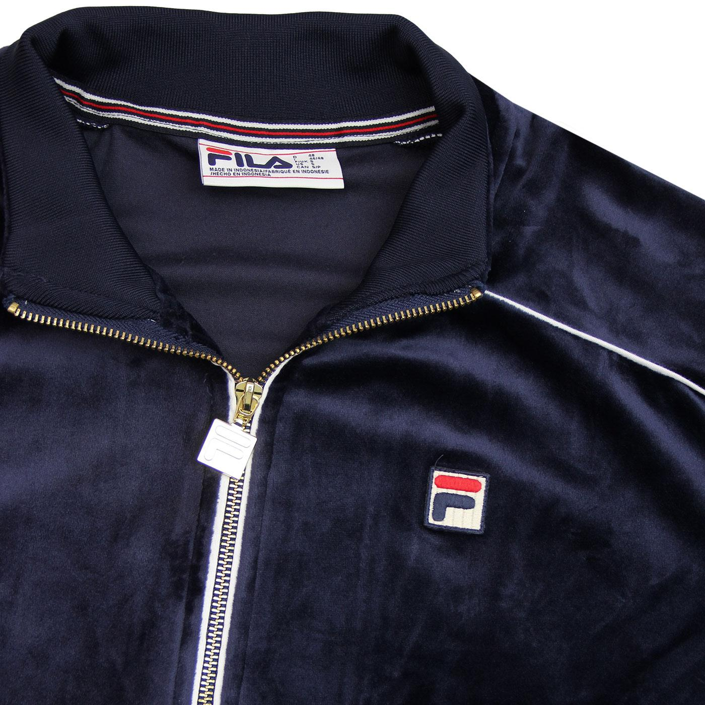 2a0055b923f1 Lineker Fila Vintage 80s Velour Track Top Peacoat