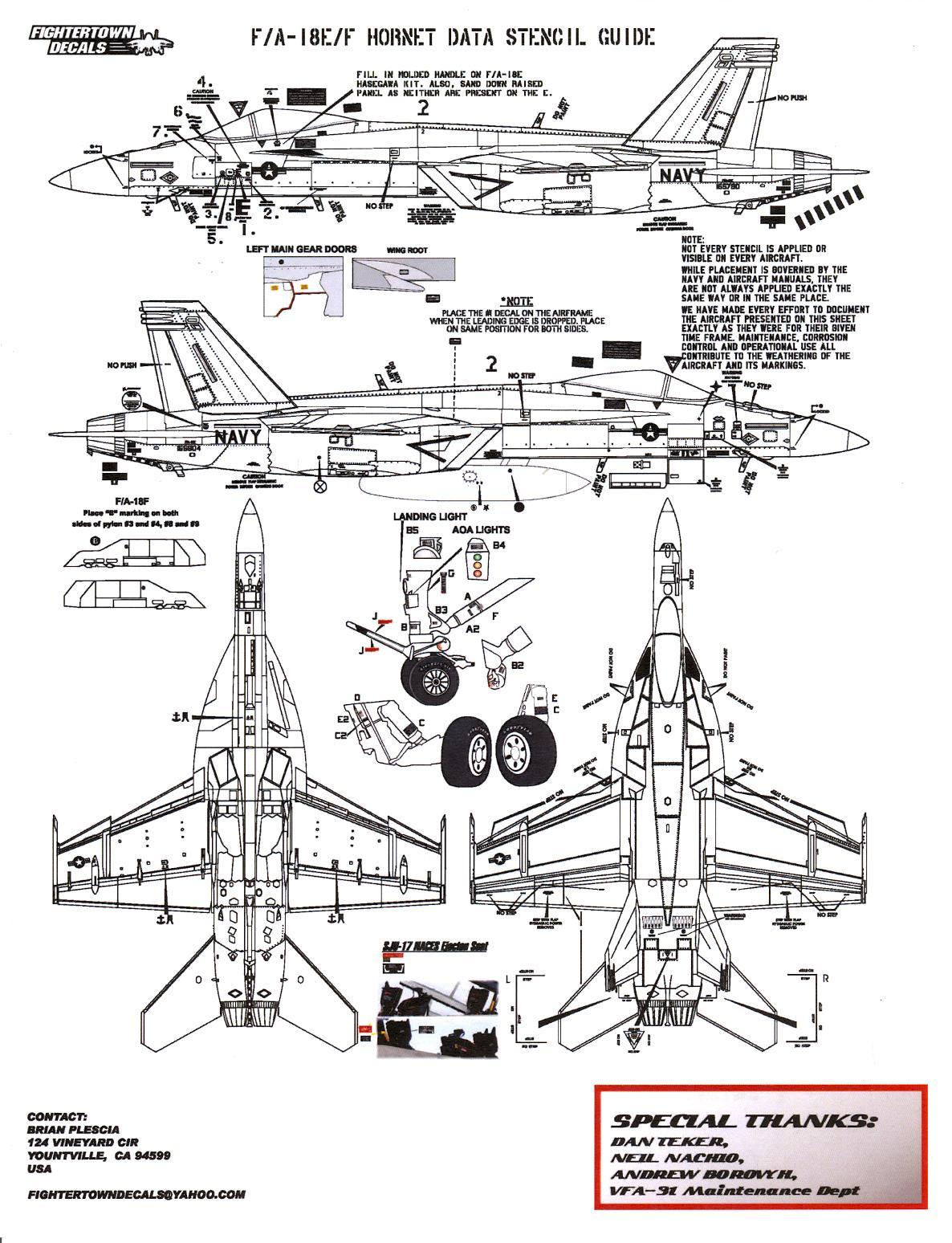 Fightertown Decals 1/48 F/A-18E/F HORNET SUPER HORNET BALL