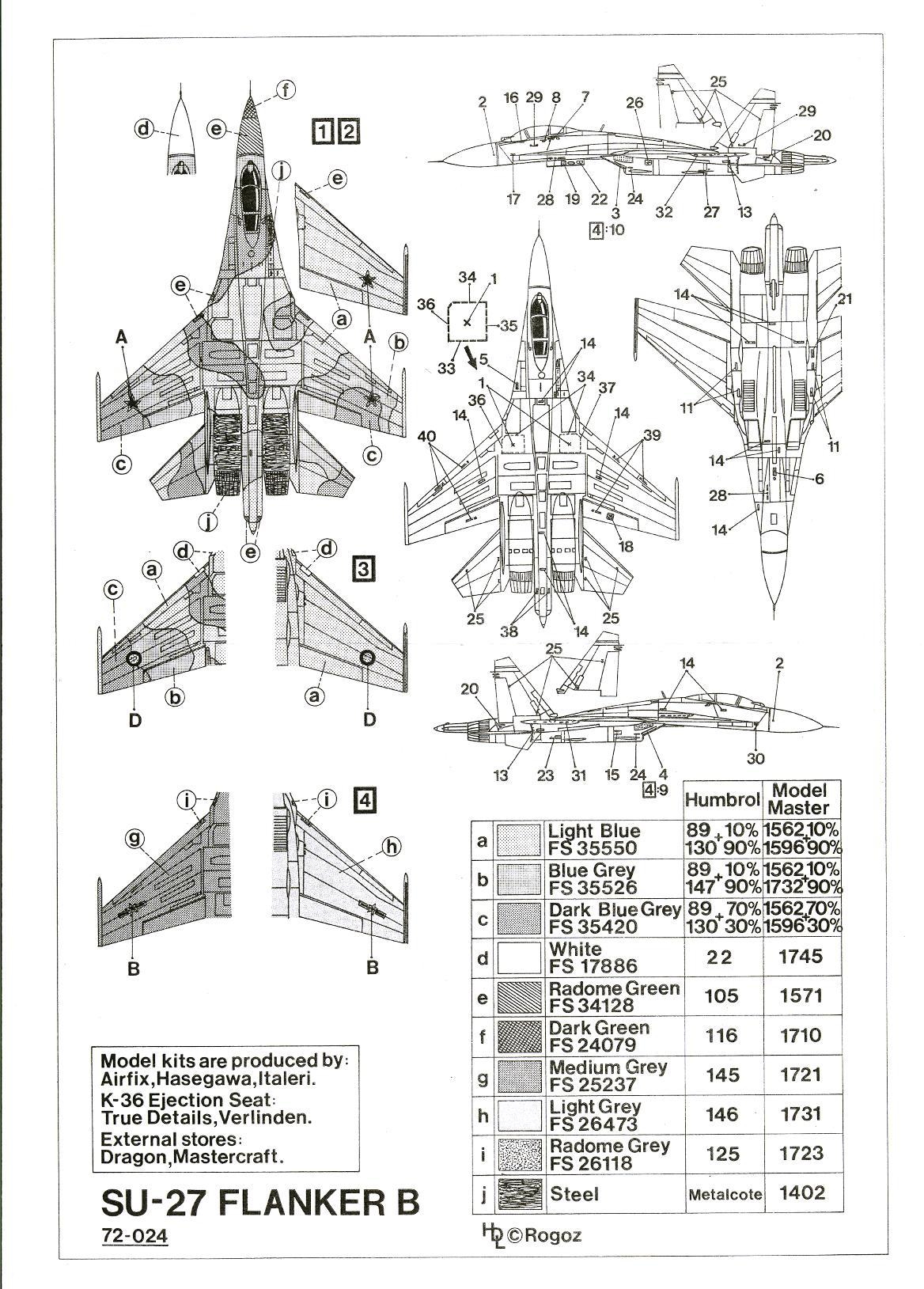Hi Decals 1/72 SUKHOI Su-27