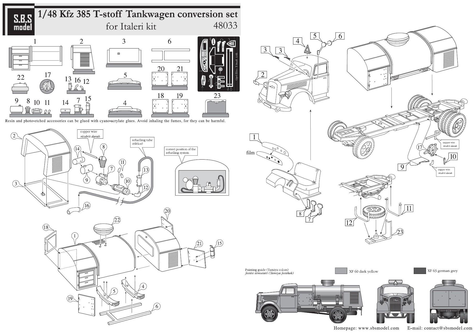 Sbs Models 1 48 Kfz 385 Opel Blitz T Stoff Tankwagen Resin