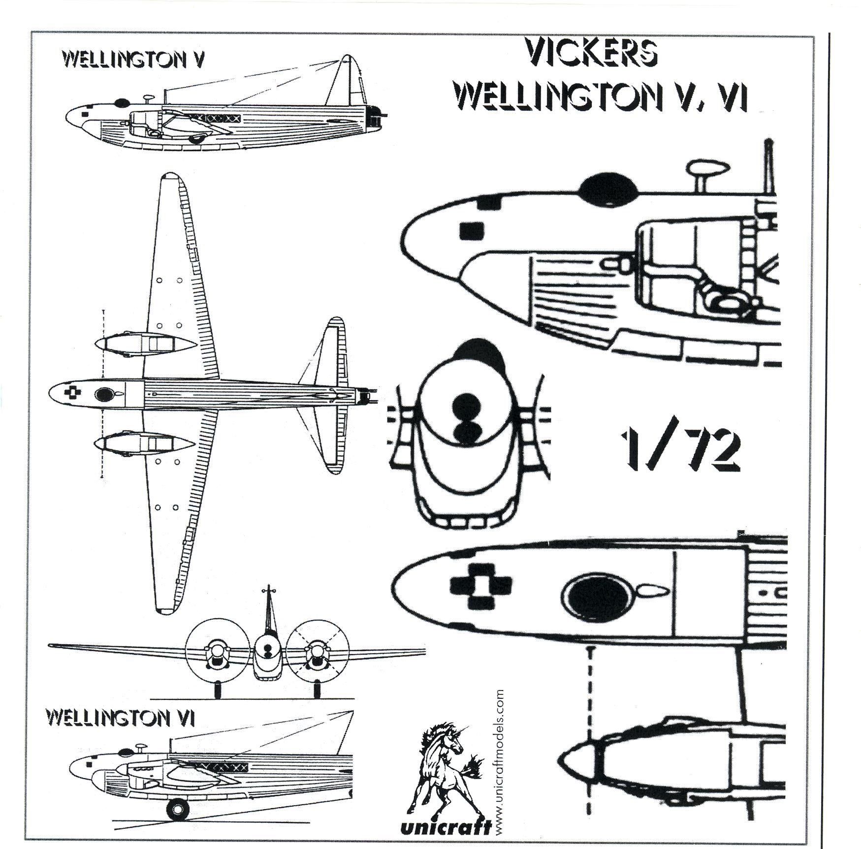 Unicraft Models 1 72 Vickers Wellington Mk V Resin