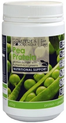 Nature's Goodness Pea Protein with nutrient-rich greens