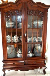 Antique Display Cabinet Glass for Sale in EMU HEIGHTS, New ...
