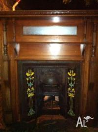 Antuique Fire place mantle and inserts. Can Deliver for ...