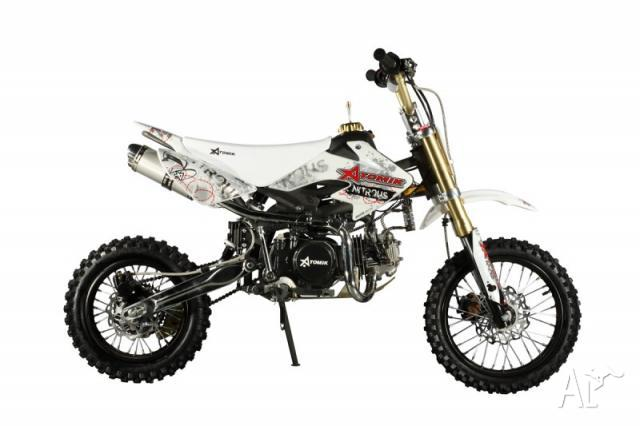 Dirt Bike 140cc Nitrous140M White By Atomik for Sale in