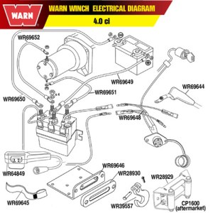 Warn 69648 Warn Winch Remote Control Socket Harness