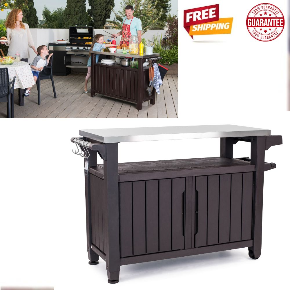 details about outdoor serving station storage and prep table unity xl resin serving station