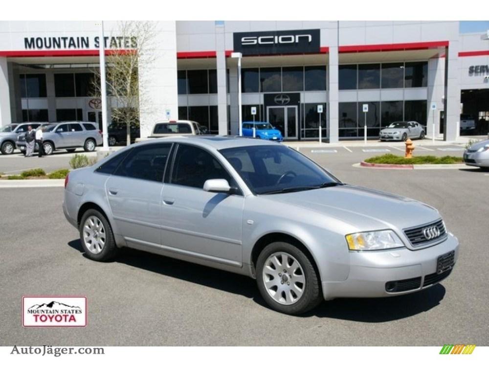 medium resolution of light silver metallic onyx audi a6 2 8 quattro sedan