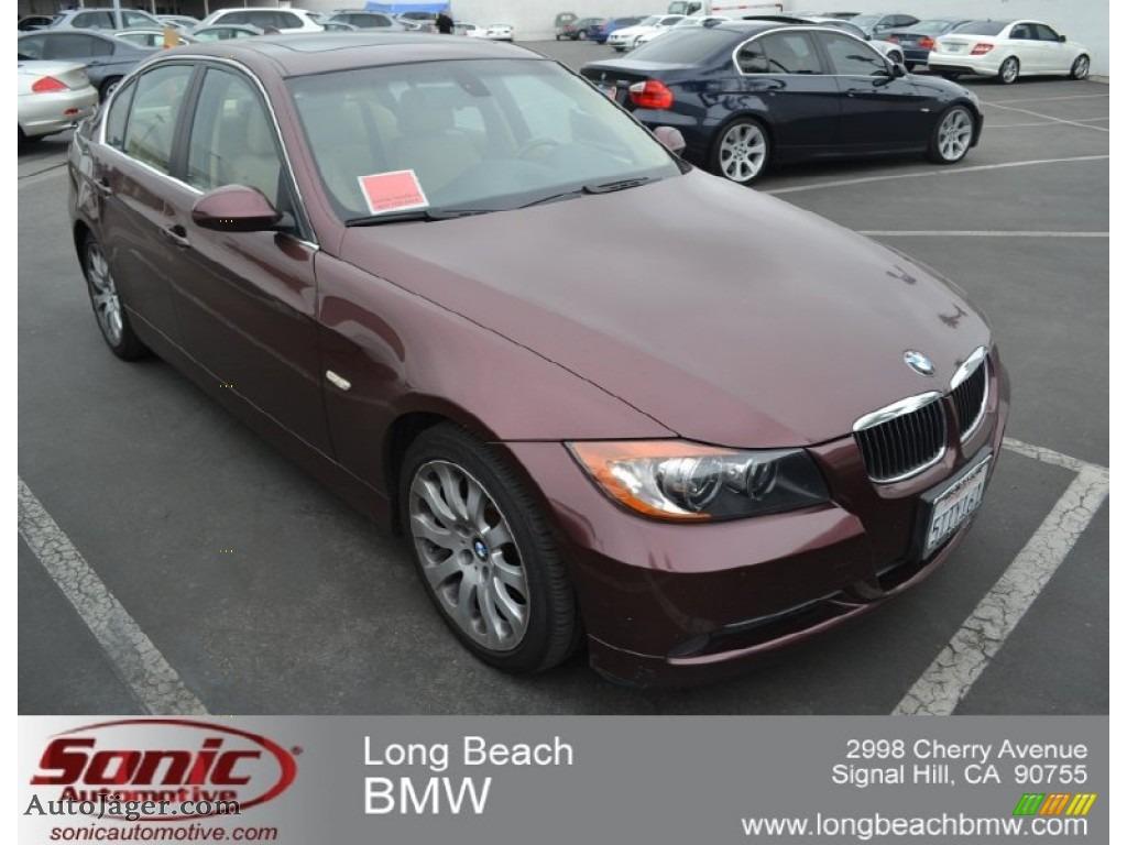 hight resolution of barrique red metallic beige bmw 3 series 330i sedan