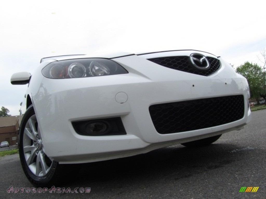 hight resolution of 2007 mazda mazda3 i sport sedan in rally white 675895