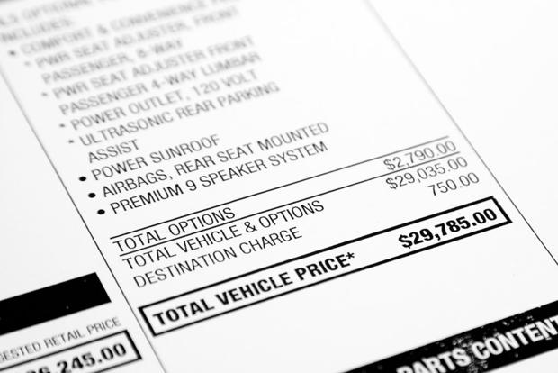 Buying a Car: Why Is the Destination Charge Listed