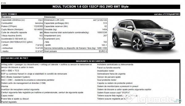 Second-hand 2017 Hyundai Tucson 1.6 Benzin 132 CP (16.500