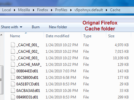 Explore/Browse cache files of Firefox browser  1