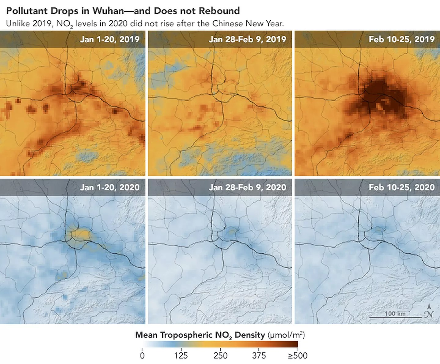 Coronavirus: NASA images show China pollution clear as factories ...