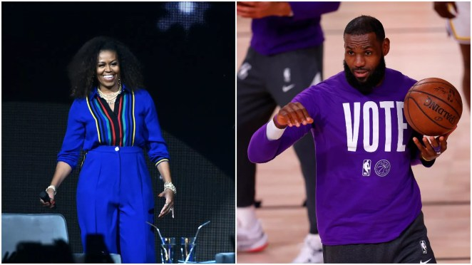 Michelle Obama, LeBron James early voting drive hosts events - Axios