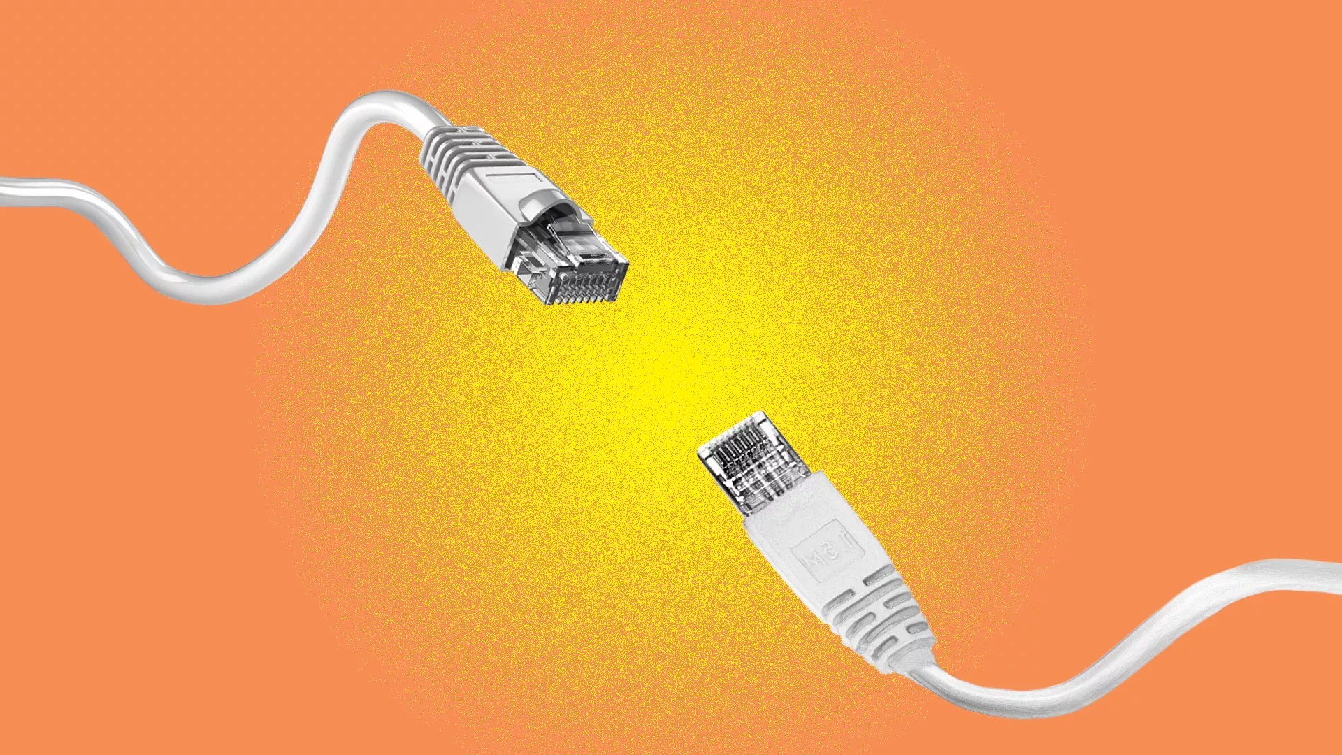 hight resolution of illustration of two ethernet cables poised for a fight