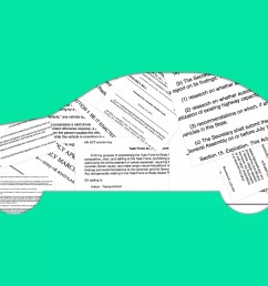 illustration of car collaged with legal docs [ 1920 x 1080 Pixel ]